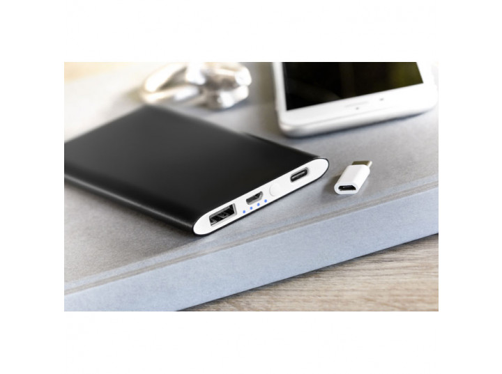 Powerbank 4000mAh Powerflatc czarny